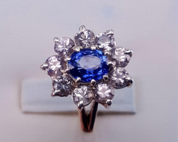 Royal blue Natural ceylon  Sapphire  Ring.