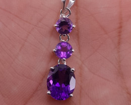 Natural Amethyst pendent.