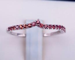 Natural Orange sapphire Ring.