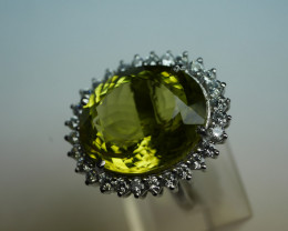 NATURAL LEMON OVAL  SHAPE 92.5 STERLING RING ( 8.00 US )