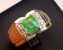 Certified Natural Emerald Ring.