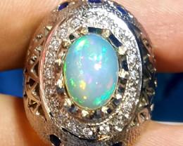 Natural Opal Men Ring.