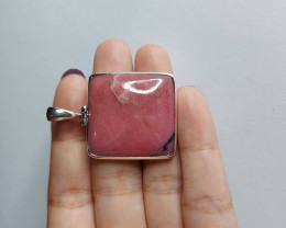 66.85cts BEAUTIFUL SQUARE RHODONITE PENDANT(JNRA-RHP2053)