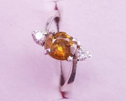 Natural Sphene Ring.