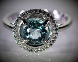 Guaranteed Delivery WITHIN USA 4 WORKDAYS Aquamarine 1.35ct White Gold Fini