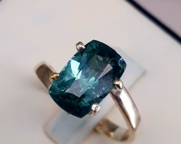 Natural Inicolite Tourmaline Ring.