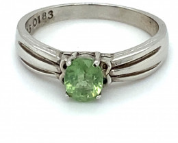 Green Tourmaline 1.03ct Solid 925 Sterling Silver Ring