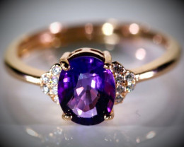 Receive within 4 work days in US!! Amethyst 1.05ct Rose Gold Finish Solid 9