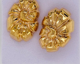 2.8 GRAMS 18K GOLD FLOWER  EARRING 2.8 GRAMS L630