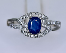 16.90 Crt Natural Composite Sapphire 925 Sterling Silver Ring