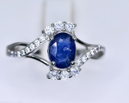 14.20 Crt Natural Composite Sapphire 925 Sterling Silver Ring