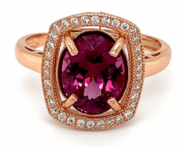 Umbalite 2.90ct Rose Gold Finish Solid 925 Sterling Silver Ring