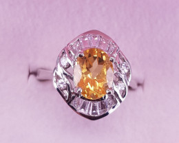Natural Citrine Ring.