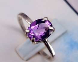 Natural Amethyst Ring.