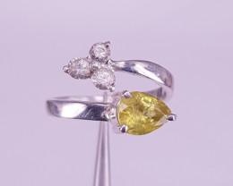 Natural Sapphire & Alexandrite Ring.