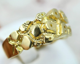 18k chunky 12.191 grams gold setting for diamonds ring size P Code NA 553