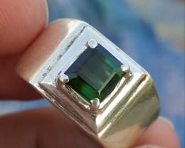 Natural bi Color Tourmaline Ring.