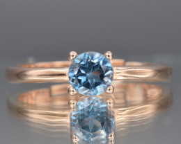 Natural Blue Topaz and 925 Silver Ring