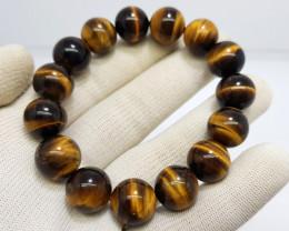 Natural Tiger Eye Bracelet 298.00 Carats