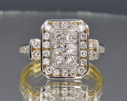 18k Natural diamonds ring and 18k solid gold
