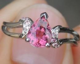 Pink Tourmaline & Pink Sapphire Ring
