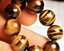 283 Tcw. Tiger Eye / Tiger Iron Eye Bracelet - Beautiful