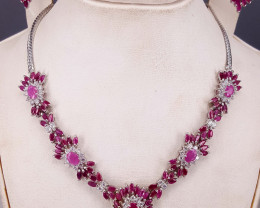 Natural Ruby with CZ Set.