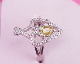 Rare Top Alexandrite Ring in Silver 925