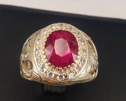 4.05 carat Natural Rubilite Ring.