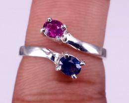 Natural ceylon&Kashmir Sapphire Ring.