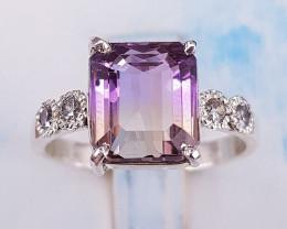 Beautiful Ametrine Ring