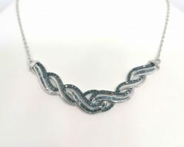 Blue Diamond Necklace 1.00 TCW