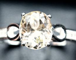 17.13 Carats Natural Topaz 925 Silver Ring Size -9