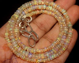 39 Crt Natural Ethiopian Welo Opal Beads Necklace 38