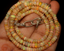 40 Crt Natural Ethiopian Welo Opal Beads Necklace 47