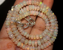 78 Crt Natural Ethiopian Welo Opal Beads Necklace 49