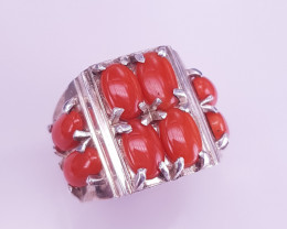 Amazing Style Natural Coral Ring.