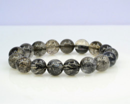 Natural Black Rutile Quartz 229.75 Cts Bracelet, Top Quality