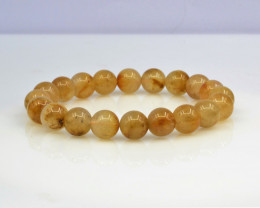 Natural Golden Rutile Quartz 121.05 Cts Bracelet, Top Quality