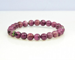 Natural Ruby Zoisite 100.75 Cts Bracelet, Top Quality