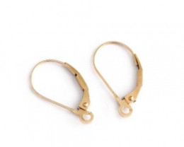 Foldover Shepherd Hooks | Nickel Free Silver, 9ct, 18ct White, Yellow Gold