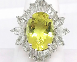 Ouro Verde Quartz and Topaz Ring 9.00 TCW
