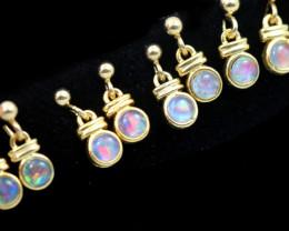 4 xGem Opal Triplet set in Gold Plate  drop swing Earring  GJC 2312