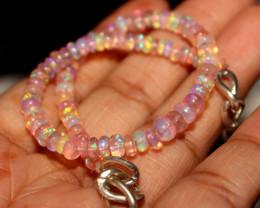 28 Crt Natural Ethiopian Welo Pink Opal Bracelet 118