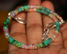 17 Crt Natural Ethiopian Welo Multi Color Opal Bracelet 135