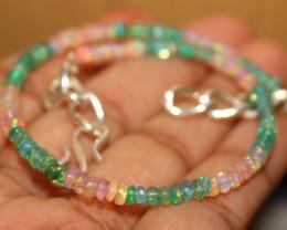 18 Crt Natural Ethiopian Welo Multi Color Opal Bracelet 112