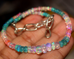 21 Crt Natural Ethiopian Welo Multi Color Opal Bracelet 132