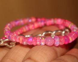 26 Crt Natural Ethiopian Welo Pink Opal Bracelet 154