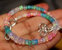 27 Crt Natural Ethiopian Welo Multi Color Opal Bracelet 144