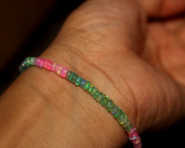 21 Crt Natural Ethiopian Welo Multi Color Opal Bracelet 152